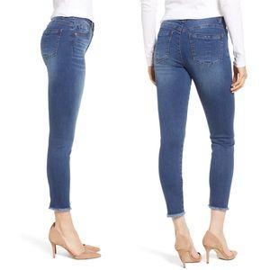 Wit & Wisdom - High Waist Fray Hem Skinny Jeans